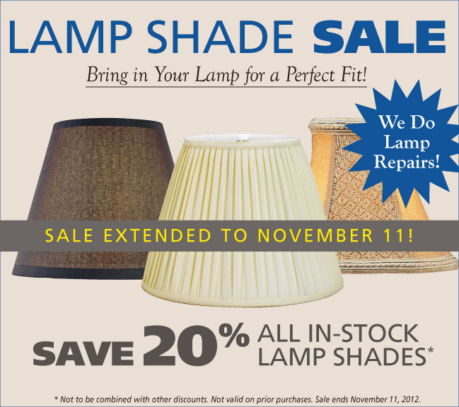 Save 20% all in-stock shades through November 6, 2012
