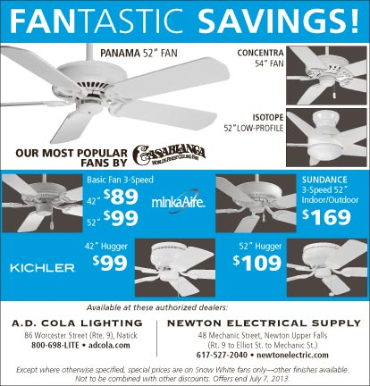 Save on Ceiling Fans at AD Cola