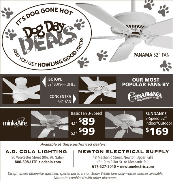 Save on Ceiling Fans Dog Day Deals