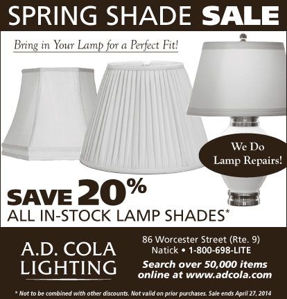 Save 20% all in stock lamp shades