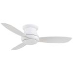 One Light White Hugger Ceiling Fan