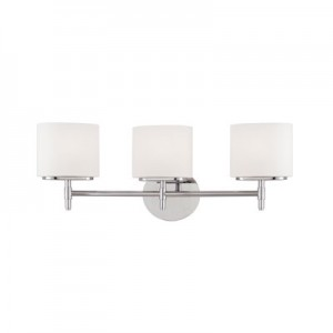 This Three Light Vanity is part of the Trinity Collection and has a Polished Chrome Finish. It is Energy Star Compliant.