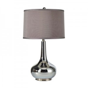 This Table Lamp has a Silver Finish.