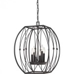 Quoizel chandelier in Imperial Bronze finish