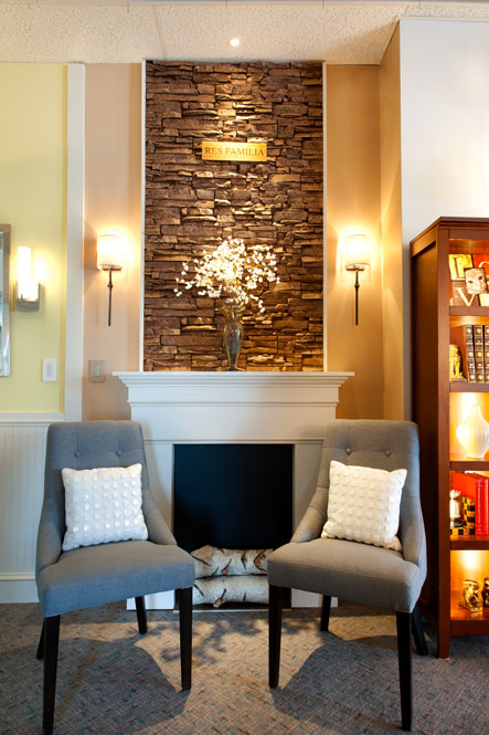 Attractive See For Yourself In Our Living Room Center. Learn How To Graze A Stone  Fireplace And Light Up The Mantel, ...