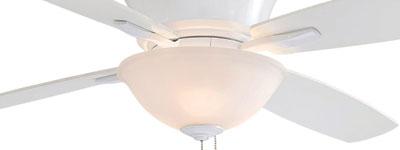 Mojo - 52 inch White Hugger Fan