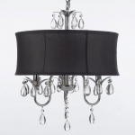 black-drum-shade-crystal-chandelier