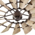 Windmill Fan in Oiled Bronze Finish with Weathered Oak Blades