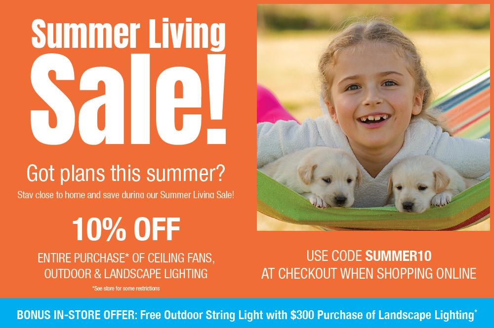 Summer Living Sale